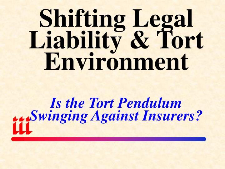 Shifting Legal Liability & Tort Environment