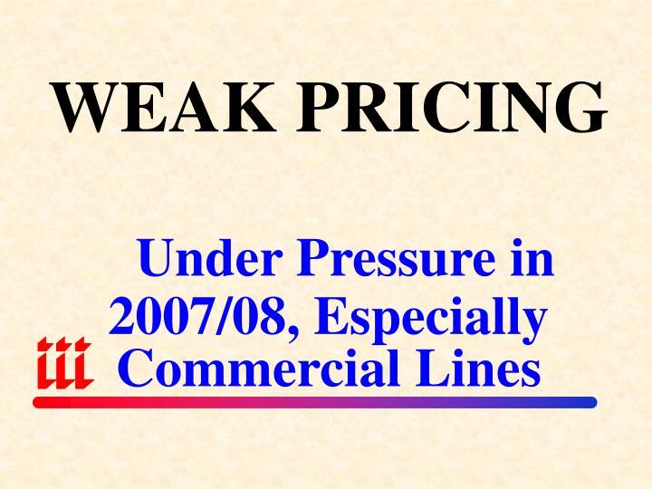 WEAK PRICING