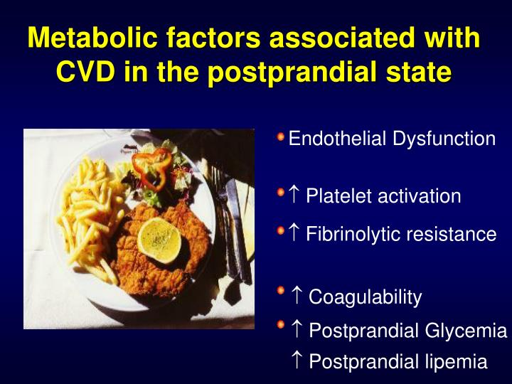 Metabolic factors associated with CVD in the postprandial state