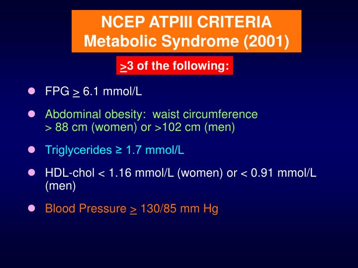 NCEP ATPIII CRITERIA
