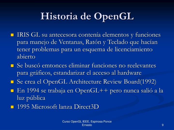 Historia de OpenGL