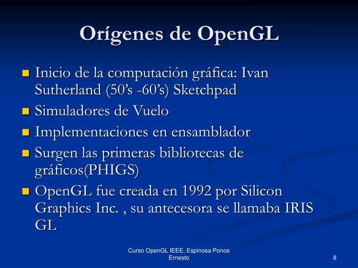 Orígenes de OpenGL