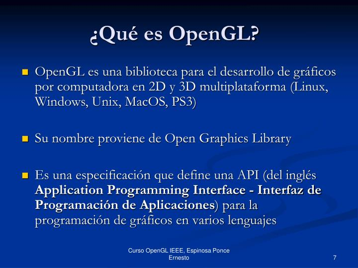 ¿Qué es OpenGL?