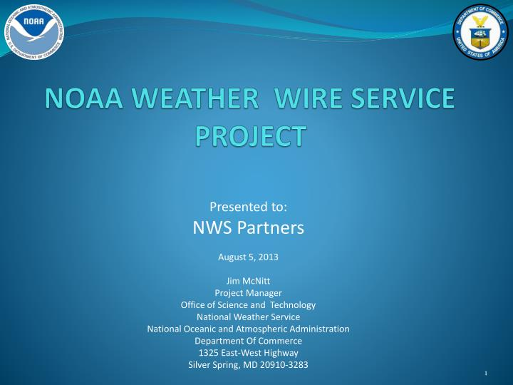 Noaa weather wire service project