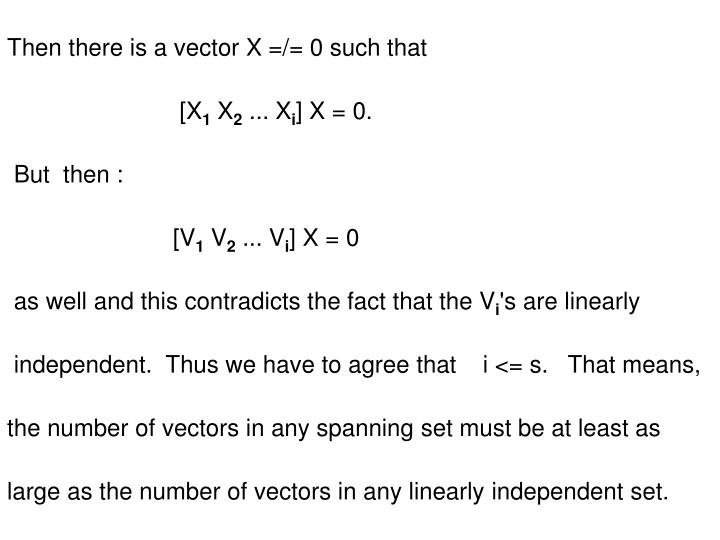 Then there is a vector X =/= 0 such that