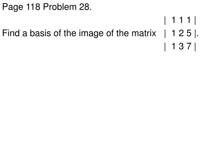 Page 118 Problem 28.