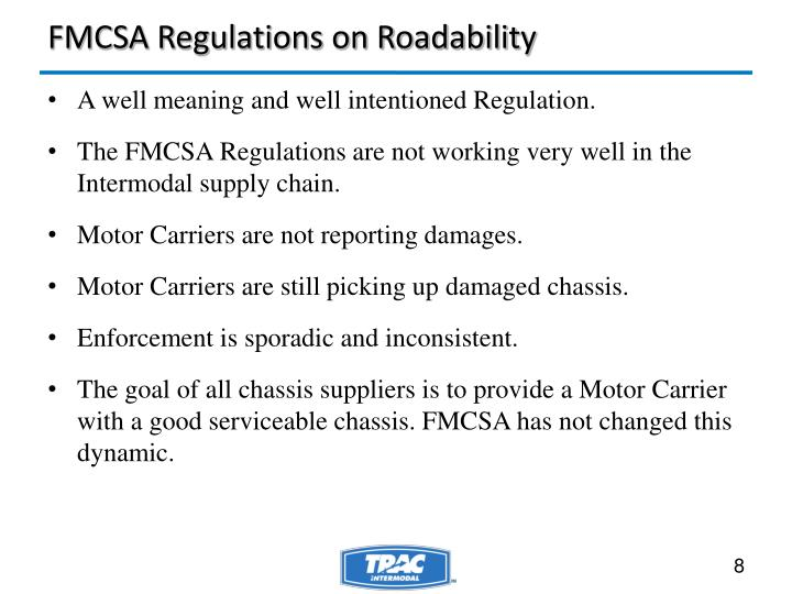FMCSA Regulations on Roadability