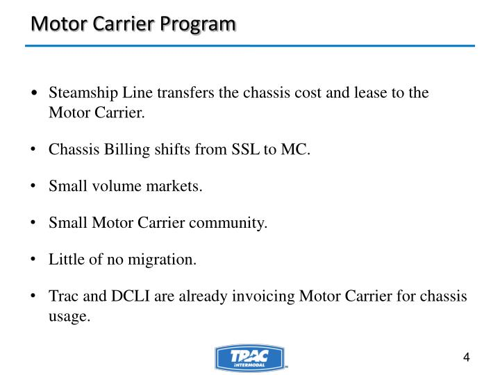 Motor Carrier Program
