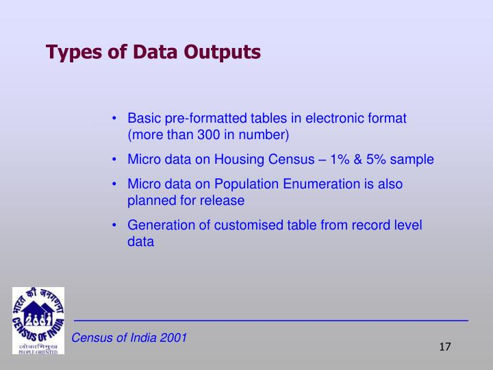 Types of Data Outputs