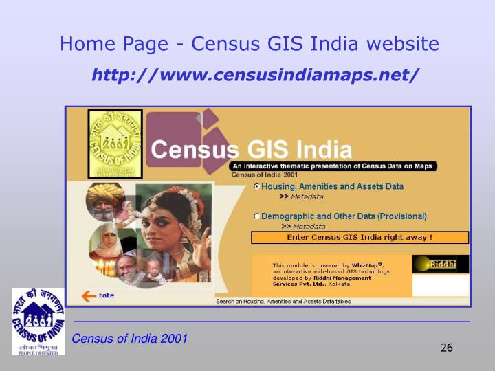 Home Page - Census GIS India website