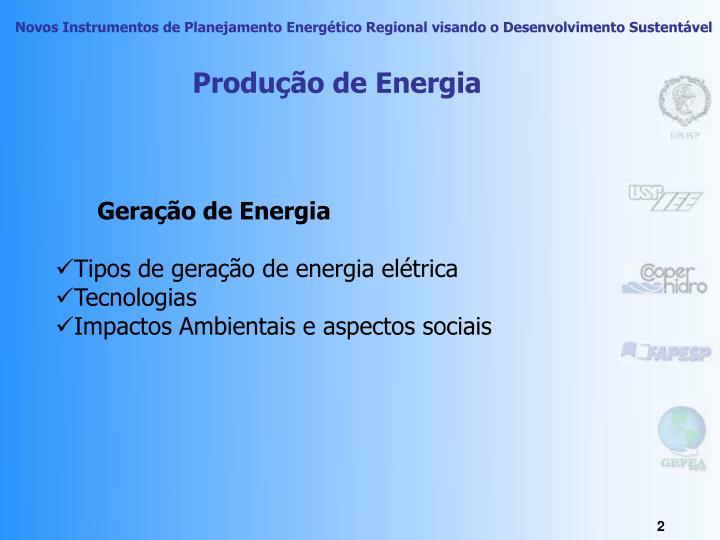 Produção de Energia