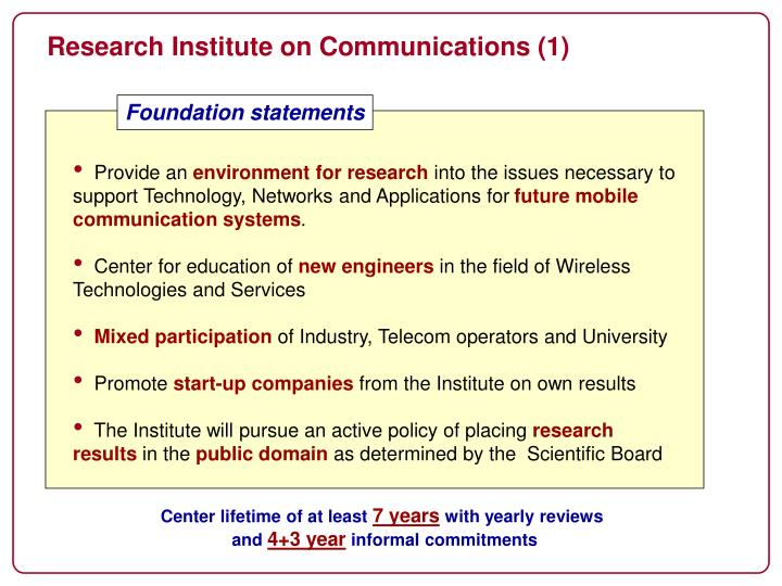 Research Institute on Communications (1)