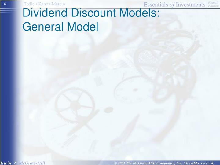Dividend Discount Models: