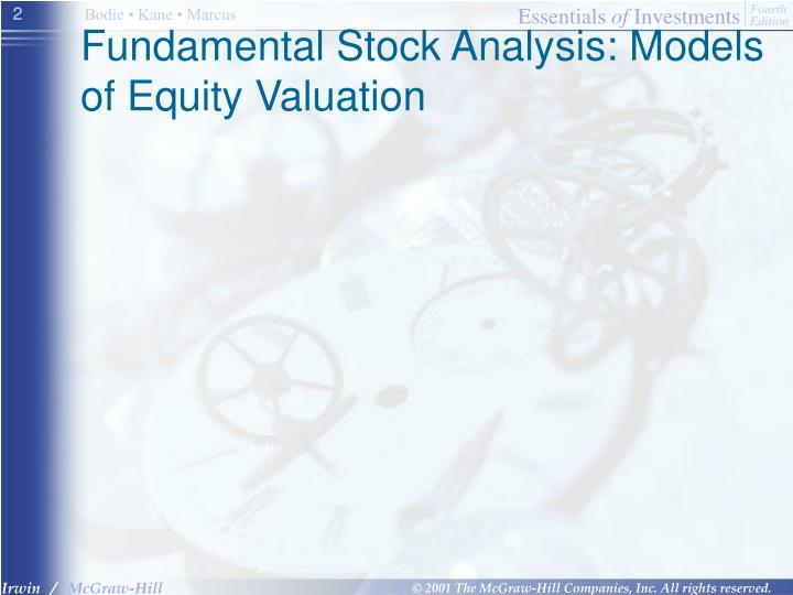 Fundamental Stock Analysis: Models of Equity Valuation