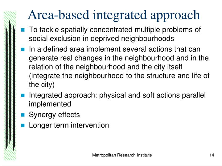 Area-based integrated approach