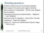 existing practices