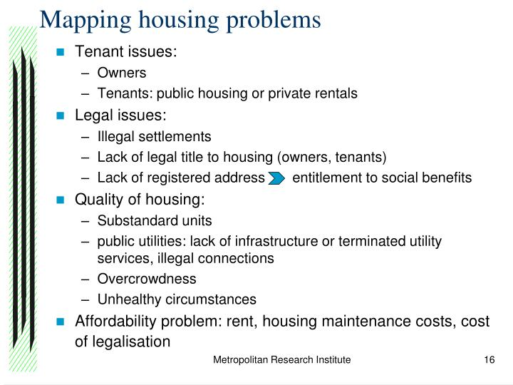Mapping housing problems