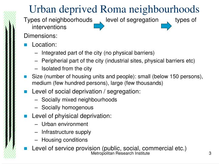 Urban deprived roma neighbourhoods