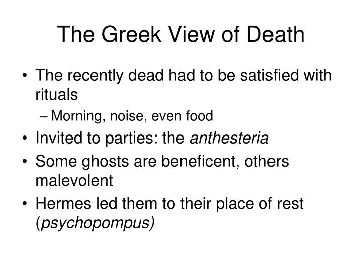 The Greek View of Death