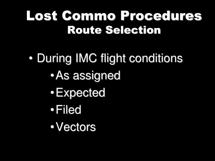 Lost Commo Procedures