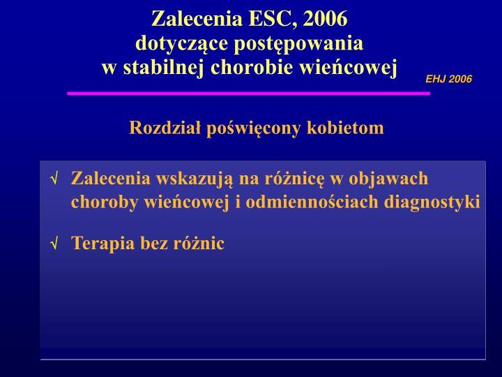 Zalecenia ESC, 2006