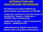 introduction and background references