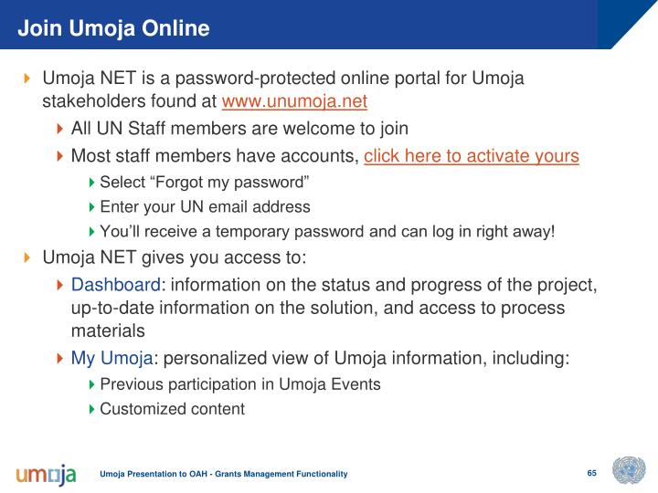Join Umoja Online
