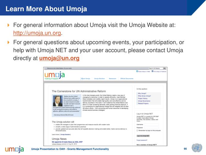 Learn More About Umoja