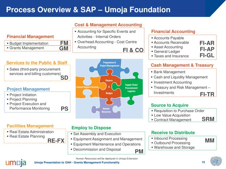 Process Overview & SAP – Umoja Foundation