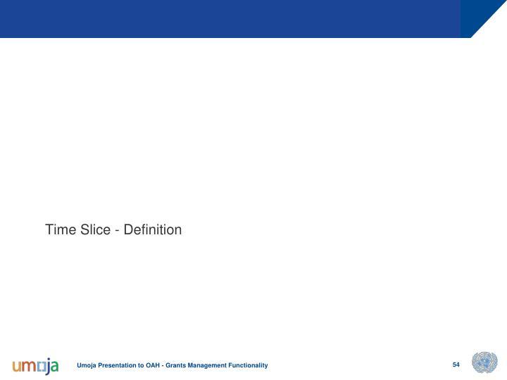 Time Slice - Definition