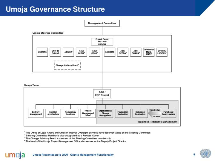 Umoja Governance Structure