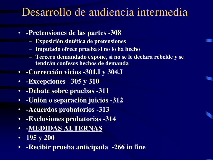Desarrollo de audiencia intermedia