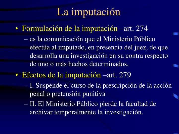 La imputación