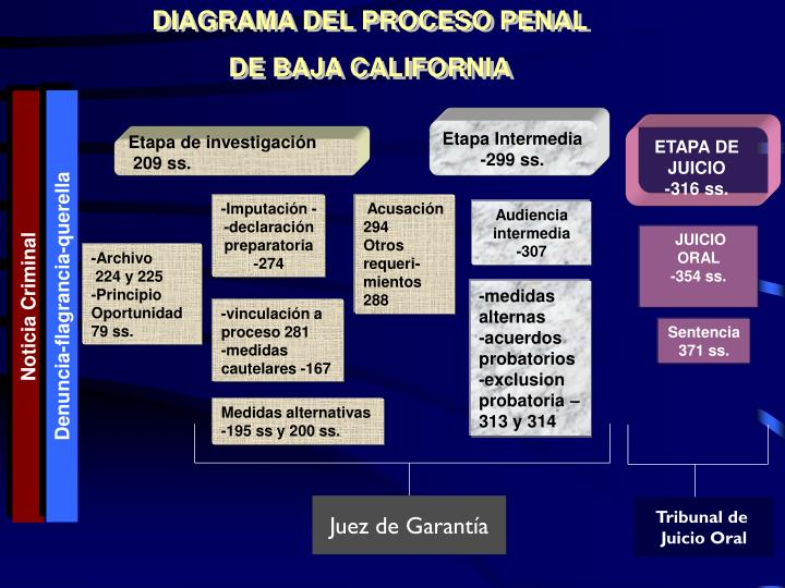DIAGRAMA DEL PROCESO PENAL