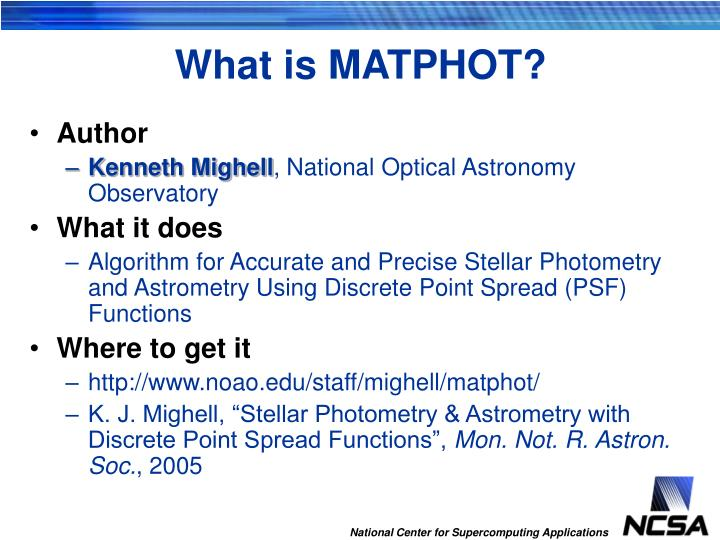 What is MATPHOT?