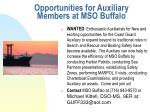 opportunities for auxiliary members at mso buffalo