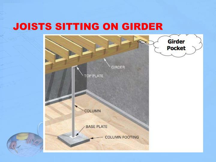 JOISTS SITTING ON GIRDER