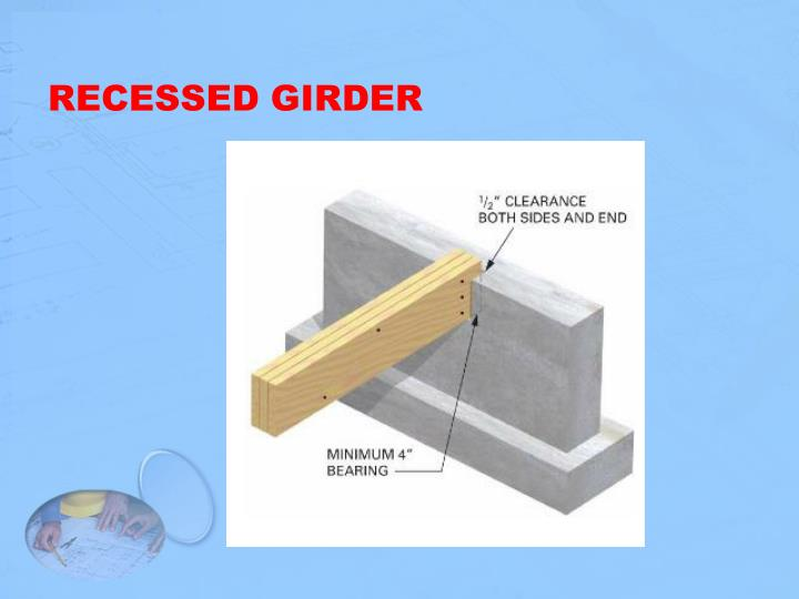 RECESSED GIRDER