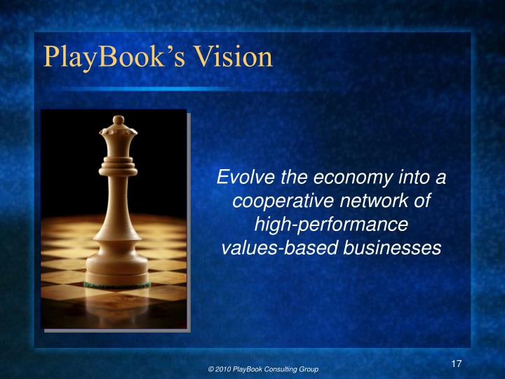 PlayBook's Vision