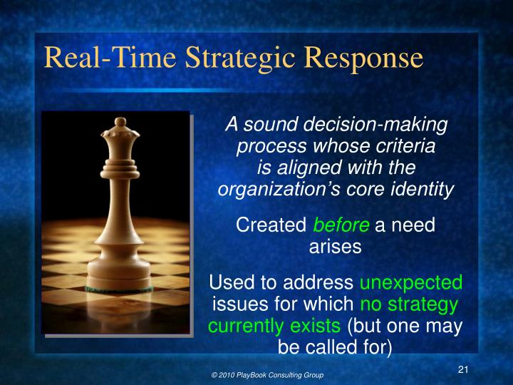 Real-Time Strategic Response
