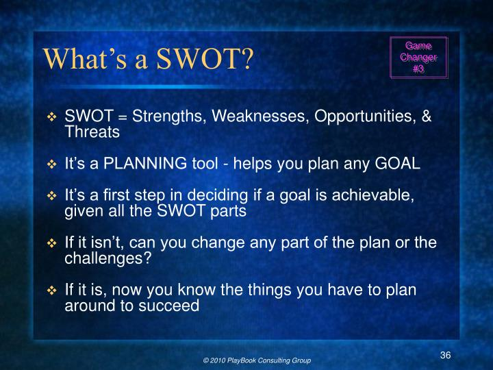 What's a SWOT?