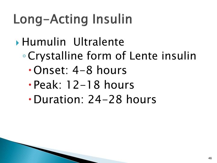Long-Acting Insulin