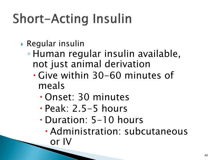 Short-Acting Insulin