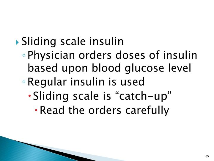 Sliding scale insulin