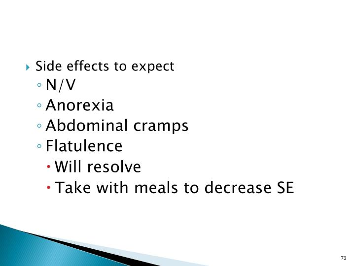 Side effects to expect