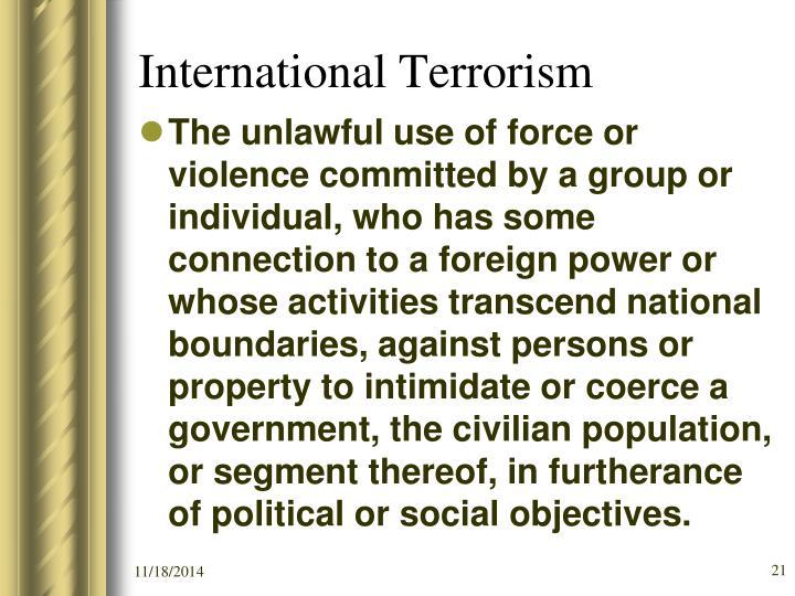 International Terrorism