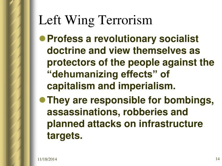 Left Wing Terrorism