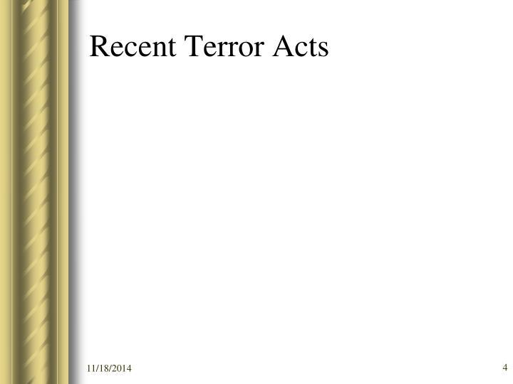 Recent Terror Acts