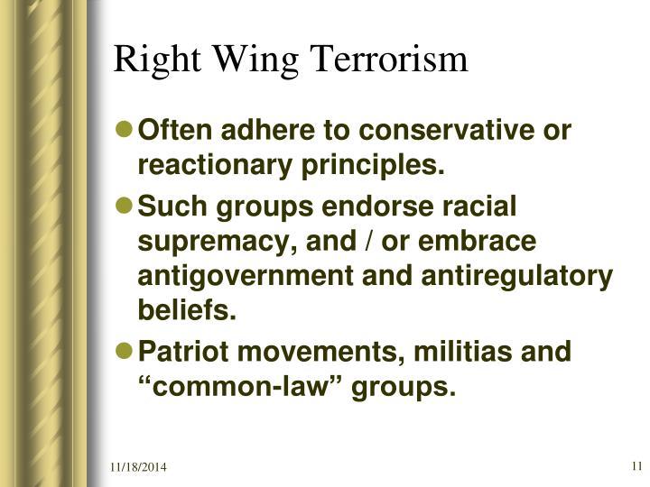 Right Wing Terrorism