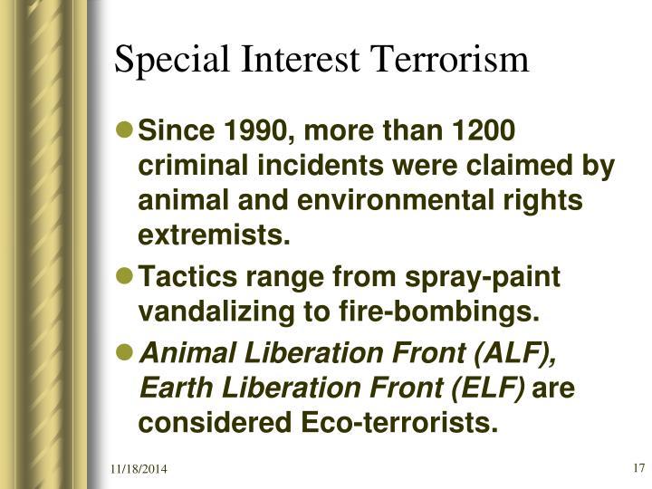 Special Interest Terrorism